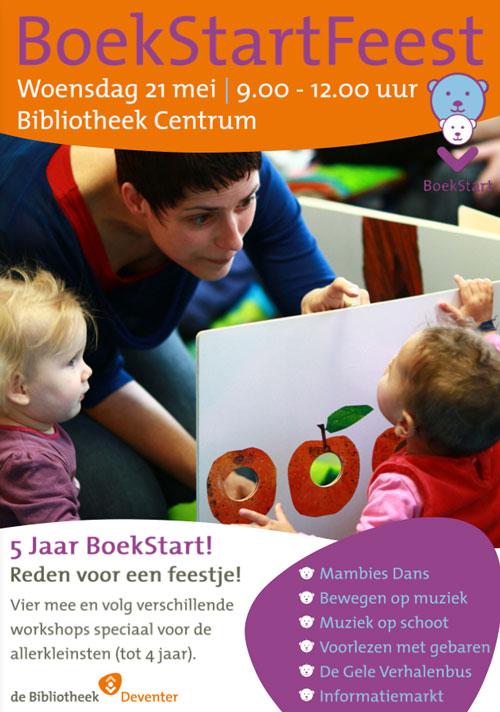 BoekStart Feest in Deventer flyer