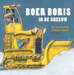 Boekomslag van het voorleesboek 'Boer Boris in de sneeuw' van auteur Ted van Lieshout.