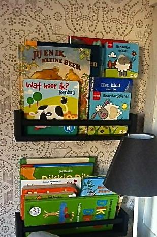 Ikea-kruidenrekje als boekenrekje