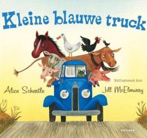 De kleine blauwe truck toetert vrolijk door de heerlijke, zomerse korenvelden tot hij plotseling vastzit in een modderpoel.