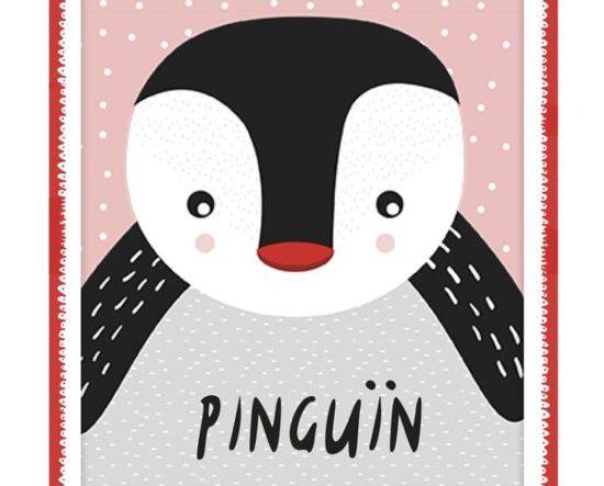 Onze boekentip voor je baby van februari 2019 is het dubbelzijdige knuffelboekje Pinguïn