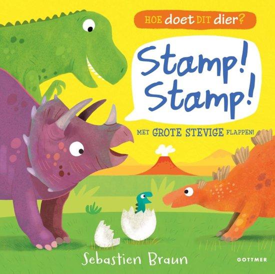 Onze boekentip voor je dreumes van februari 2019 is het flappenboekje 'Hoe doet dit dier? Stamp! Stamp!