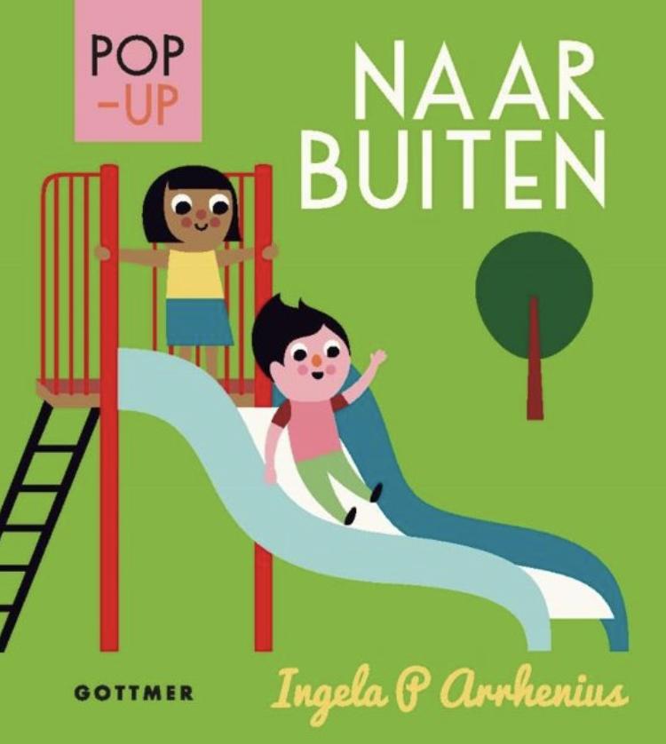 Onze lentetip voor dreumesen is 'Pop-up. Naar buiten' van Ingela P. Arrhenius (uitgeverij Gottmer).