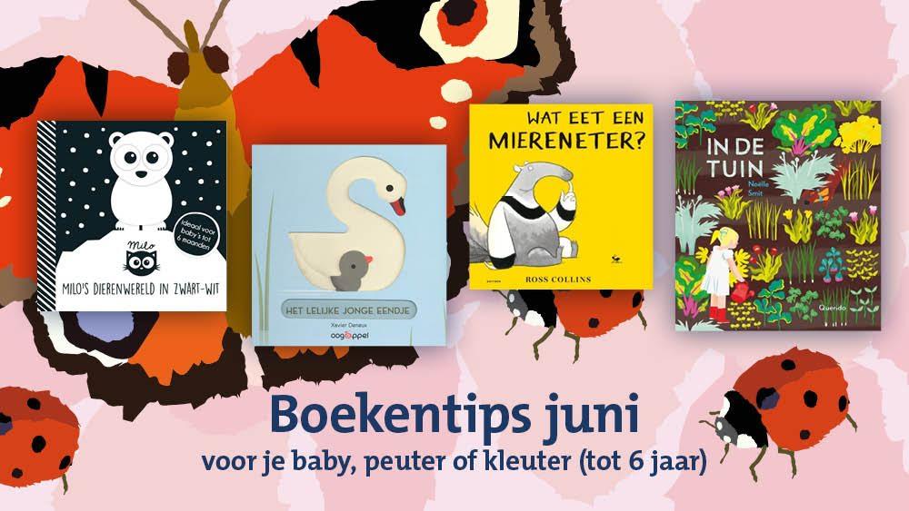 BoekStart boekentips voor je baby, dreumes, peuter of kleuter (tot 6 jaar) van juni 2019.