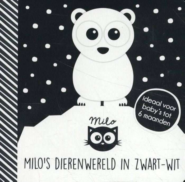 Onze tip voor baby's van juni is 'Milo's dierenwereld in zwart-wit'