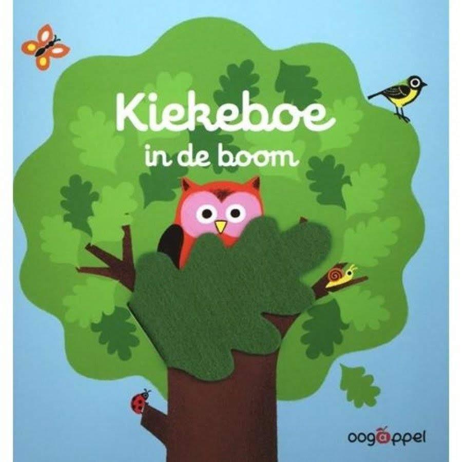 Boekomslag 'Kiekeboe in de boom' van Aurelie Guillerey (Oogappel).