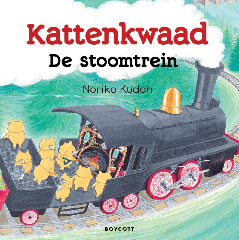 De cover van Kattenkwaad - De stoomtrein door Noriko Kudoh