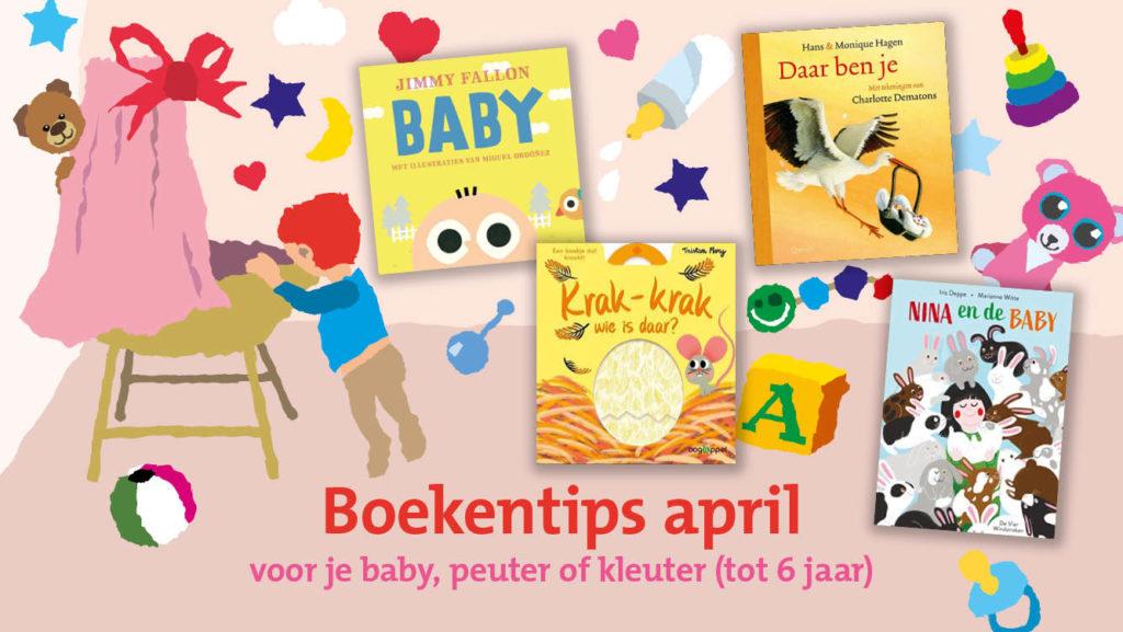Dit zijn (volgens ons) de vier leukste boekjes voor je baby, dreumes, peuter of kleuter van deze maand. Kom ze snel lenen in De Bibliotheek, of koop/bestel ze bij een boekhandel bij jou in de buurt!