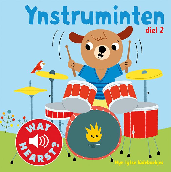 Foarkant Frysk ôfbyldingsboek 'Ynstruminten diel 2' troch Marion Billet. It is ús Fryske boektip foar jo pjut.
