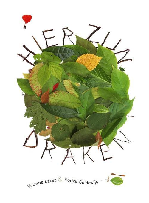 Boekomslag van het prentenboek 'Hier zijn draken' van Yvonne Lacet & Yorick Goldewijk. Het is onze boekentip voor je kleuter van maart 2021
