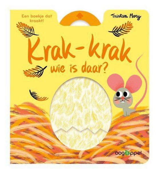 Boekomslag van het prentenboek 'Krak krak wie is daar' van Tristam Mory. Het is onze tip voor Pasen 2021.
