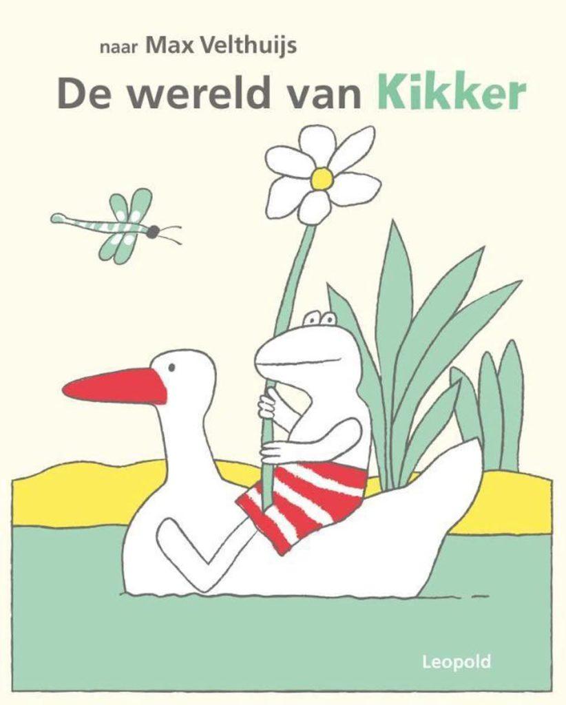 Boekomslag van 'De wereld van Kikker' naar het werk van Max Velthuijs (Leopold). Het is onze boekentip voor je baby van juli/augustus 2021.